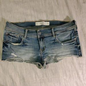 Abercrombie Light Wash denim cutoff shorts size 10